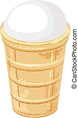 Ice cream cone. Illustration isolated in vector format