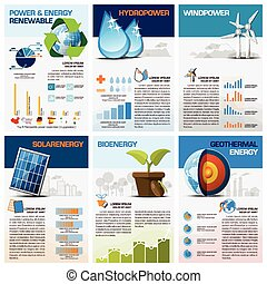 Power And Energy Renewable Chart Diagram Infographic Design...