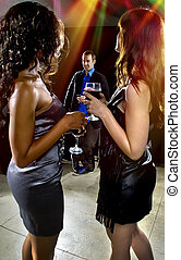 Seducing Men at a Club - women seducing a man at a bar or...