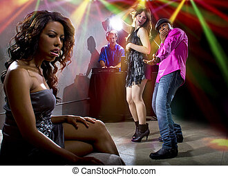 Cheating Boyfriend at a Nightclub - black male cheating on...