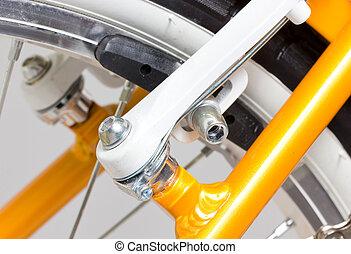 終わり, 自転車, の上, ブレーキ