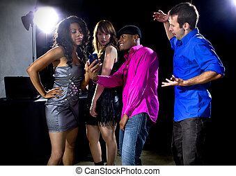 Pick Up Artist Cock Blocker - male and women rudely...