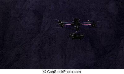 Night exploration - Quadrocopter powerful moves in the night...