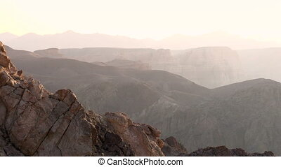 Panorama of the Canyon - The camera slowly turns to the...