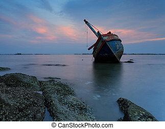 The wrecked ship , Thailand
