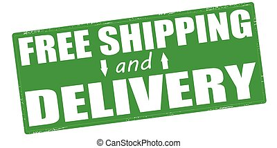 Free shipping and delivery - Stamp with text free shipping...
