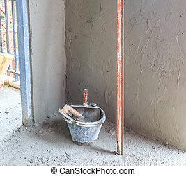 construction - plasterer concrete