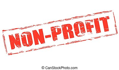 Non profit - Stamp with text non profit inside, vector...