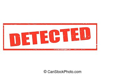 Detected - Stamp with word detected inside, vector...