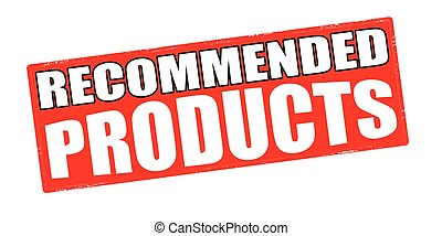 Recommended products - Stamp with text recommended products...