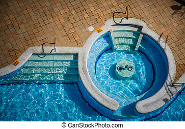 High angle View of a Empty Pool - High angle View of a...