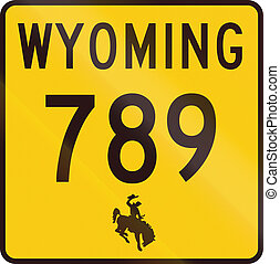United States Wyoming State Highway - United States State...