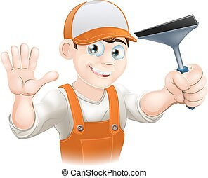 Waving Window Cleaner With Squeegee