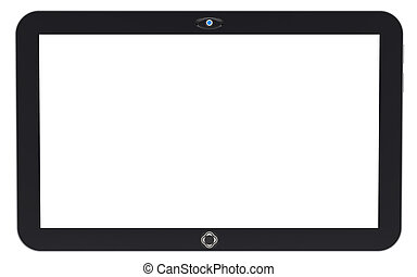 Abstract tablet PC isolated on white background. 3d render.