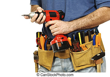 tools for fine work - detail on handyman manual worker,...