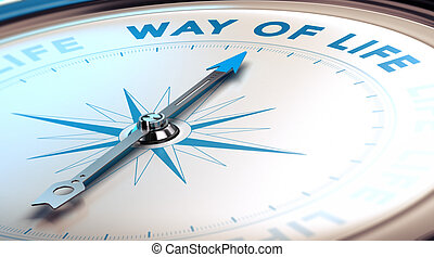 Change for a Better Life - Compass with needle pointing the...