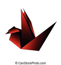origami dove vector illustration