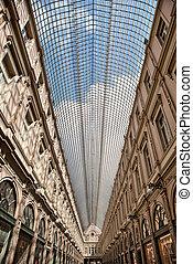 La galerie de la Reine in Brussels, Belgium - La galerie de...