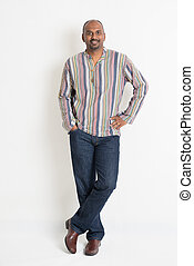 Indian guy - Full length confident Indian guy in casual wear...