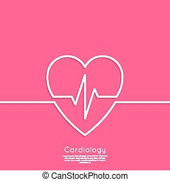 Cardiogram with heart.