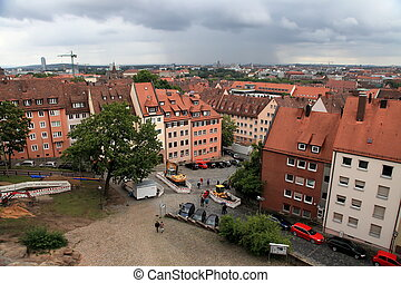 NURNBERG, GERMANY - JULY 13 2014 Cityescape of Nuremberg,...