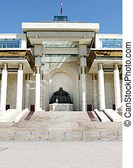 the Parliament building - Ulan Bator / Ulaanbaatar,...