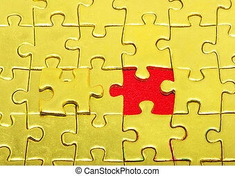 gold puzzle - Background of gold jigsaw puzzle