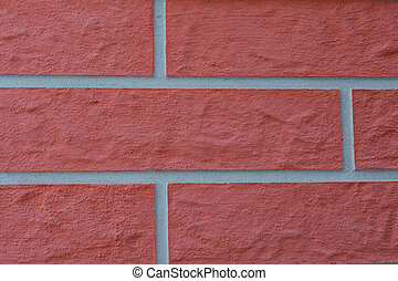 Pattern brick wall - close up - Nahaufnahme einer...