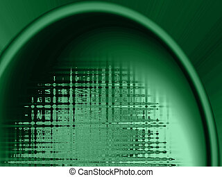 Abstract green background with sound wave like properties -...