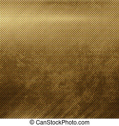 Gold metal grid - Old damaged golden metal grid background...