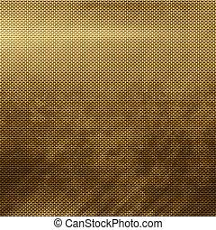 Gold metal grid - Old damaged golden metal grid background...
