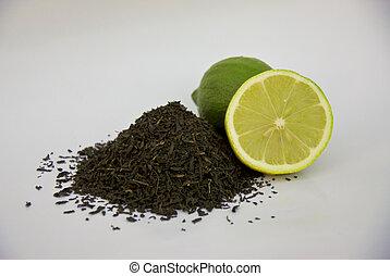 loose leaf tea and lemons
