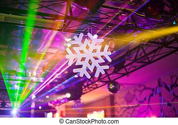 White snowflake in the interior - White artificial snowflake...