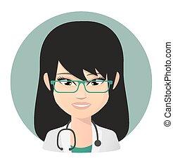 Female doctor asian avatar