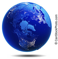 Planet Earth white isolated Elements of this image furnished...