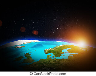 Scandinavia. Elements of this image furnished by NASA
