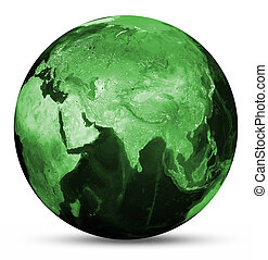 Earth green map Elements of this image furnished by NASA