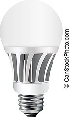 Led bulb vector - Led lamp, vector bulb, isolated, led bulb,...