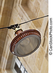 Street lamp - Focus on a street lamp in town