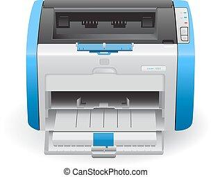 Laser printer HP LaserJet 1022 in vector, printer in vector,...