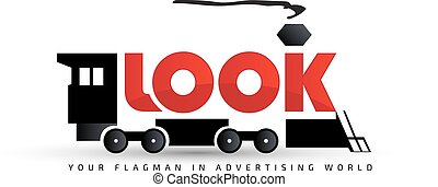 Logo template, vector, locomotive - Vector logo template,...