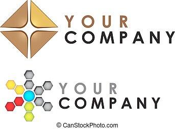 Vector logo template, abstract - Abstract vector logo...