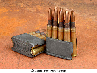 M1 clips and ammunition - World War II M1 Clips and 30-06...