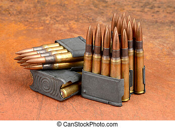 M1 clips and ammunition. - World War II M1 Clips and 30-06...