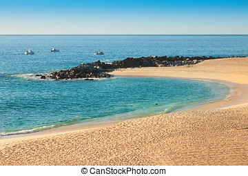 Cabo San Lucas - Sea of Cortez and beach on Cabo San Lucas,...