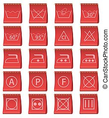 labels for clothing vector - labels for clothing with the...