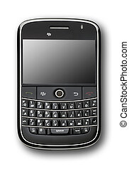 Black PDA isolated - front view of modern pda on white with...