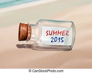 summer 2015 message in a bottle
