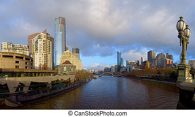 melbourne on a cloudy morning
