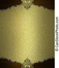 gold frame with a gold border. Design template. Design site